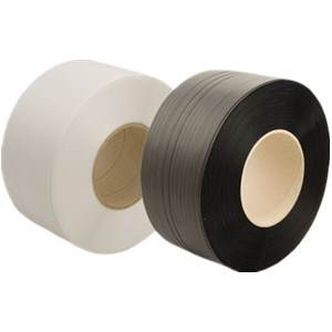 1/2 in. Black Smooth Polyester Strapping - .015 in. x 9000 ft.