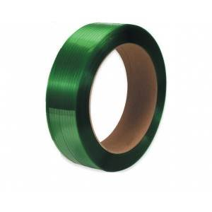 "1/2"" x .027 x 6500' Green Smooth Polyester Strap 16x6"