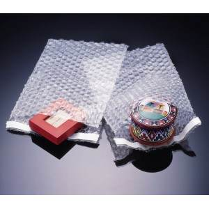 "12"" x 15-1/2"" + 1"" Lip & Tape 3/16"" Barrier Bubble Bag"