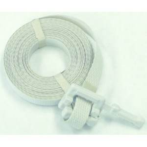 White Poly Strap Cut To Length w/Buckle 1/2in. x 17ft. 300lb Break Strength 500/cs