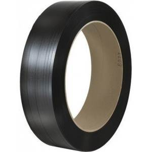 1/2 in. Black Embossed Machine Polypropylene Strapping - .024 x 7,200'