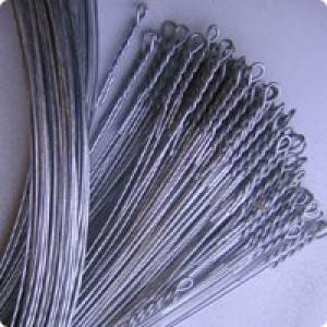 14 ft. Galvanized Single Loop Baling Wire - 12 Gauge