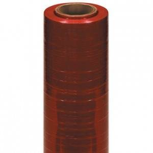 Hand Stretch Wrap Film - Cast, 80 Gauge 18 in. x 1500 ft., Red