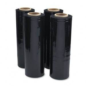 80 Gauge Black Opaque Machine Stretch Wrap - 20 in. x 5000 ft.