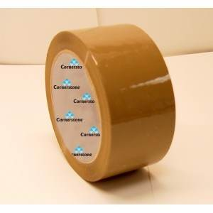 IPS Tan Acrylic Carton Sealing Tape 3 in. X 110 yards 1.8Mil