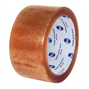 Clear Natural Rubber Packaging Tape - 2.3 Mil - 2