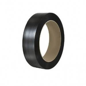 3/4 in. Black Smooth Hand-Grade Polyester Strapping - .040 x 3280 ft.