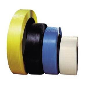 3/8 in. Black Embossed Machine Polypropylene Strapping - .024 x 12900'
