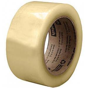 "3"" x 109 yards 2.6 Mil Clear Flatback Paper Tape"