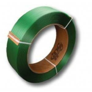 5/8 in. Green Embossed Polyester Strapping - .035 x 3940 ft.
