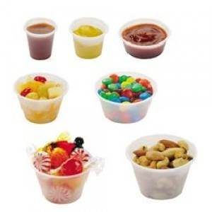 CUP PLASTIC SOUFLE 1OZ TRANSLUCENT