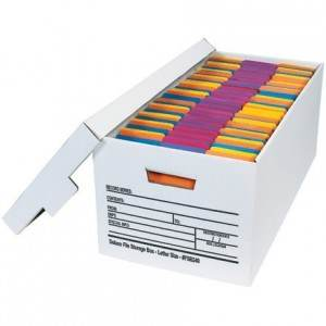 Deluxe Letter File Storage Box with Lid