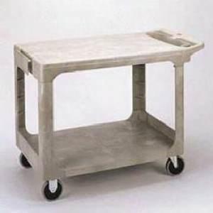 FLAT SHELF UTILITY CART GRAY