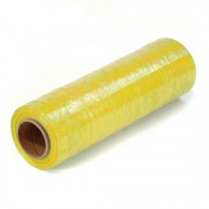 15 x 80 Gauge x 1500 Yellow Handwrap on 3 inch Core Identi-Film 4rl/cs 48cs/sk Color Stretch Film