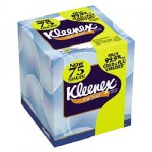 KLEENEX ANTI-VIRAL FACIAL TISSUE WHITE