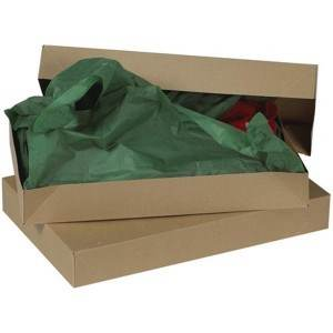 10 x 7 x 1 1/4 Kraft Apparel Box