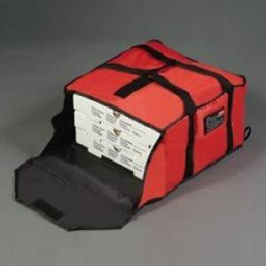 PIZZA DELIVERY BAG  LARGE  RED