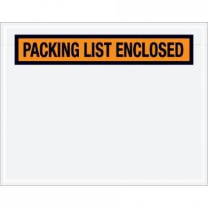 "4-1/2"" x 5-1/2"" ADM 51NP PQ11 Clear Packing List Envelope"
