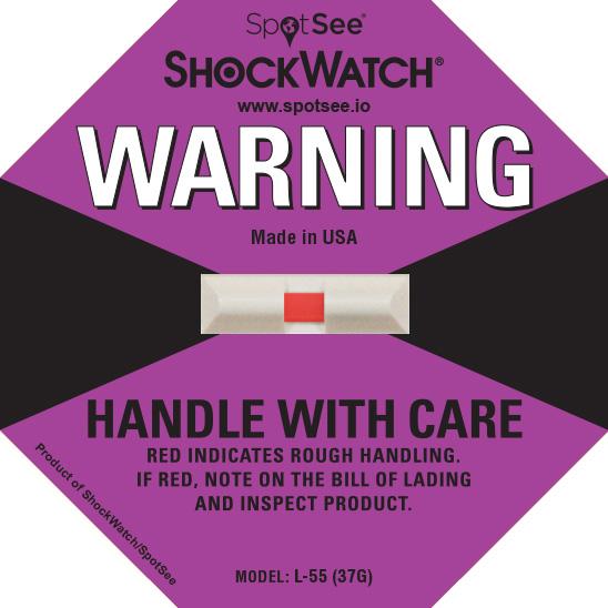 37G ShockWatch Impact Label