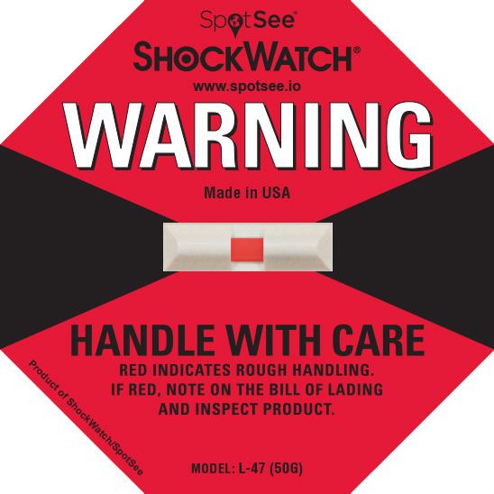 50G ShockWatch Impact Label
