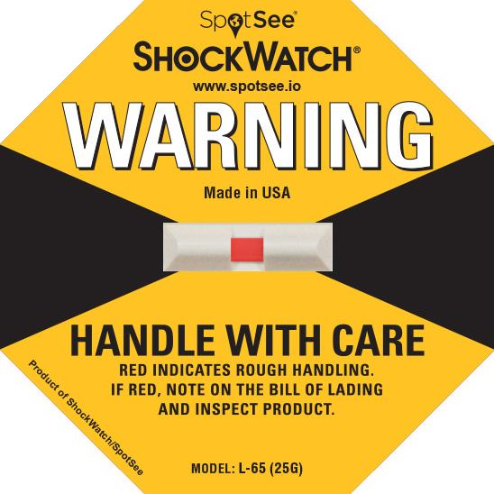 25G ShockWatch Impact Label