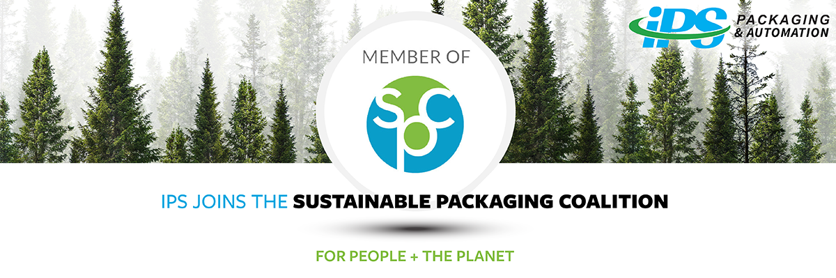 forest background with spc logo and text ips joins the sustainable packaging coalition