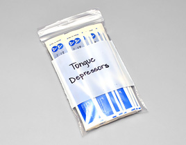 White Block Markable Poly Bags