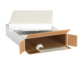 White Self-Seal Side Loading Cartons