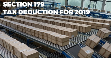 Section 179: Packaging Equipment Tax Deduction for 2019