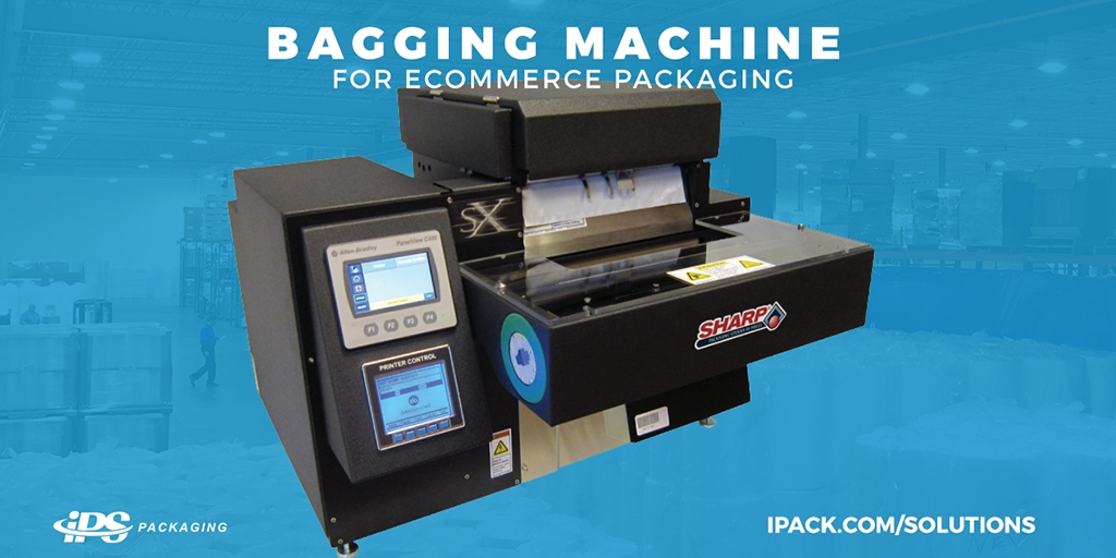Bagging machine for ecommerce packaging